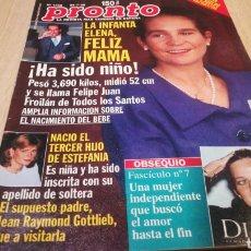 Coleccionismo de Revista Pronto: REVISTA PRONTO N° 1368 - 25/7/98 - LA INFANTA ELENA. Lote 267525884