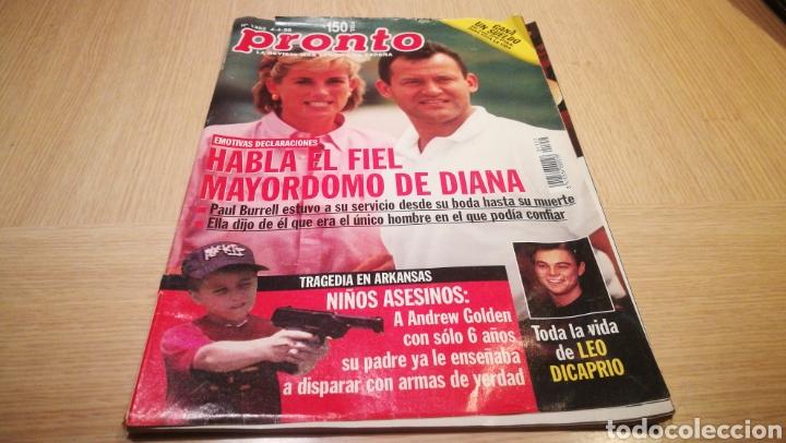 REVISTA PRONTO N° 1352 - 4/4/98 - HABLA EL FIEL MAYORDOMO DE DIANA / LEONARDO DICAPRIO (Papel - Revistas y Periódicos Modernos (a partir de 1.940) - Revista Pronto)