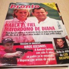Coleccionismo de Revista Pronto: REVISTA PRONTO N° 1352 - 4/4/98 - HABLA EL FIEL MAYORDOMO DE DIANA / LEONARDO DICAPRIO. Lote 267526229
