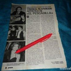 Coleccionismo de Revista Pronto: RECORTE : ROCIO JURADO, EN REAPARICION DEL PESCADILLA. LOLA FLORES. PRONTO, DCMBRE 1990(#). Lote 268585494