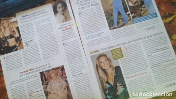 LOTE 5 REPORTAJES CANTANTE GISELA REVISTA PRONTO AÑO 2004-2005 (Papel - Revistas y Periódicos Modernos (a partir de 1.940) - Revista Pronto)