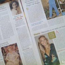 Coleccionismo de Revista Pronto: LOTE 5 REPORTAJES CANTANTE GISELA REVISTA PRONTO AÑO 2004-2005. Lote 268601114