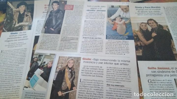 Coleccionismo de Revista Pronto: LOTE 5 REPORTAJES CANTANTE GISELA REVISTA PRONTO AÑO 2004-2005 - Foto 2 - 268601114