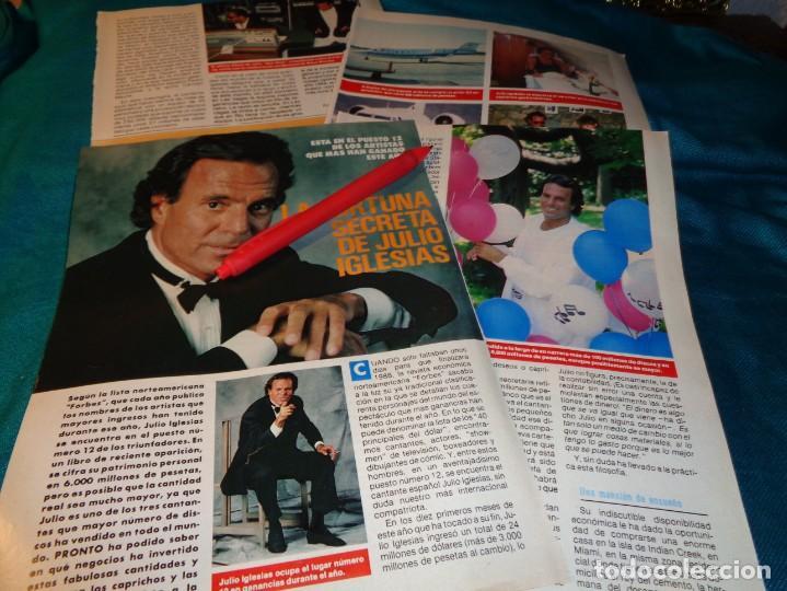 RECORTE : LA FORTUNA SECRETA DE JULIO IGLESIAS. PRONTO, ENERO 1989(#) (Papel - Revistas y Periódicos Modernos (a partir de 1.940) - Revista Pronto)