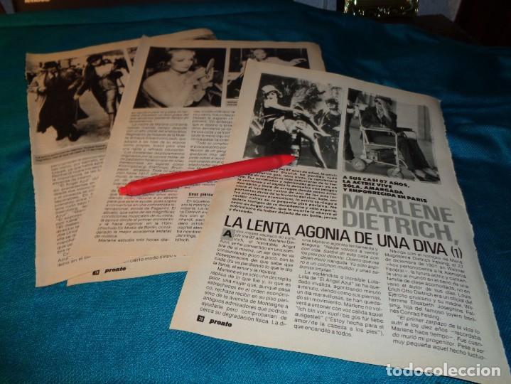 RECORTE : LA LENTA AGONIA DE UNA DIVA : MARLENE DIETRICH. CAP . 1. PRONTO, ENERO 1989(#) (Papel - Revistas y Periódicos Modernos (a partir de 1.940) - Revista Pronto)