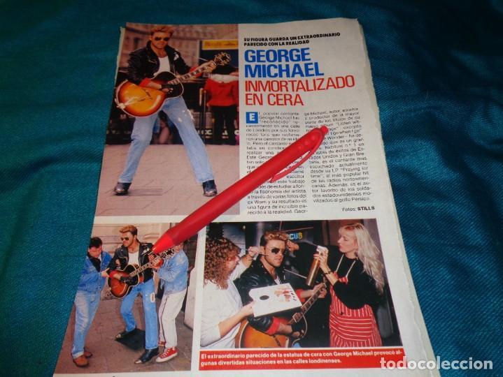 RECORTE : GEORGE MICHAEL, INMORTALIZADO EN CERA. PRONTO, NVMBRE 1990(#) (Papel - Revistas y Periódicos Modernos (a partir de 1.940) - Revista Pronto)