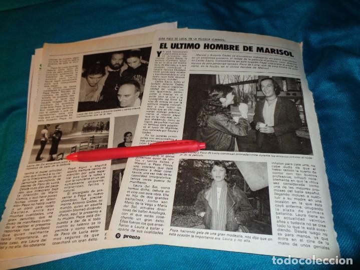 RECORTE : EL ULTIMO HOMBRE DE MARISOL, PACO DE LUCIA. PRONTO, MARZO 1983(#) (Papel - Revistas y Periódicos Modernos (a partir de 1.940) - Revista Pronto)