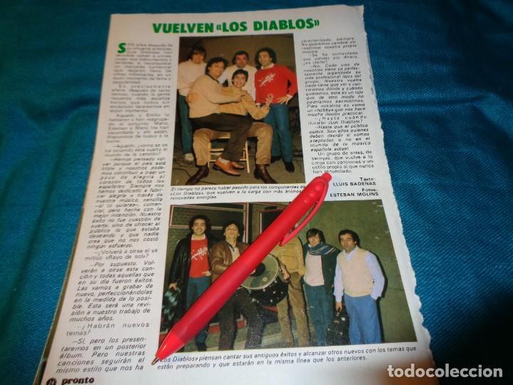RECORTE : VUELVEN LOS DIABLOS. PRONTO, MARZO 1983(#) (Papel - Revistas y Periódicos Modernos (a partir de 1.940) - Revista Pronto)