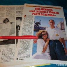 Coleccionismo de Revista Pronto: RECORTE : ENTREVISTA A BIBI ANDERSEN. PRONTO, NVMBRE 1986(#). Lote 268875939