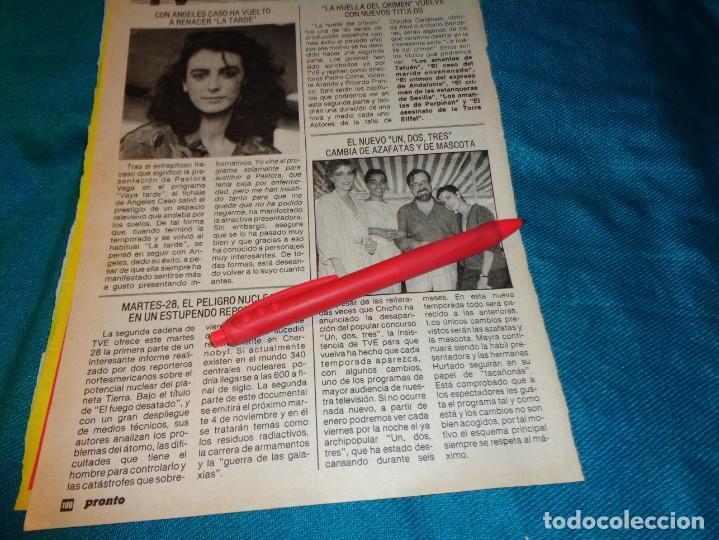 RECORTE : EL NUEVO UN, DOS, TRES..... PRONTO, NVMBRE 1986(#) (Papel - Revistas y Periódicos Modernos (a partir de 1.940) - Revista Pronto)