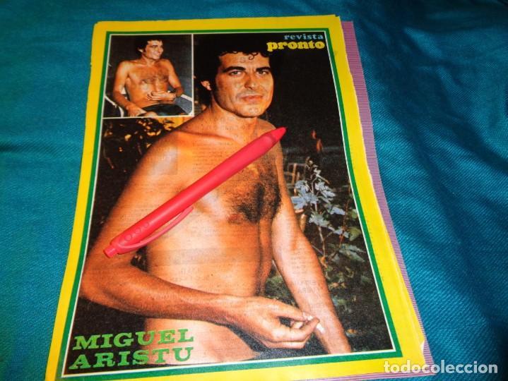 RECORTE : MINI POSTER : MIGUEL ARISTU. PRONTO, SPTMBRE 1976(#) (Papel - Revistas y Periódicos Modernos (a partir de 1.940) - Revista Pronto)