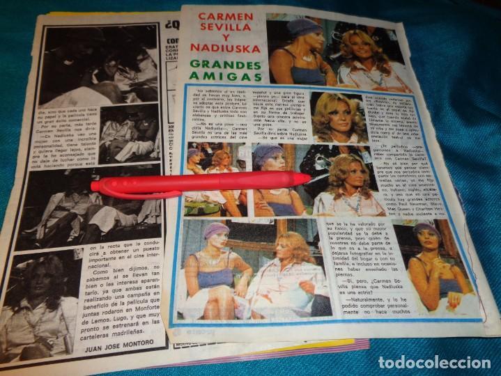 RECORTE : CARMEN SEVILLA Y NADIUSKA, BUENAS AMIGAS. PRONTO, SPTMBRE 1976(#) (Papel - Revistas y Periódicos Modernos (a partir de 1.940) - Revista Pronto)