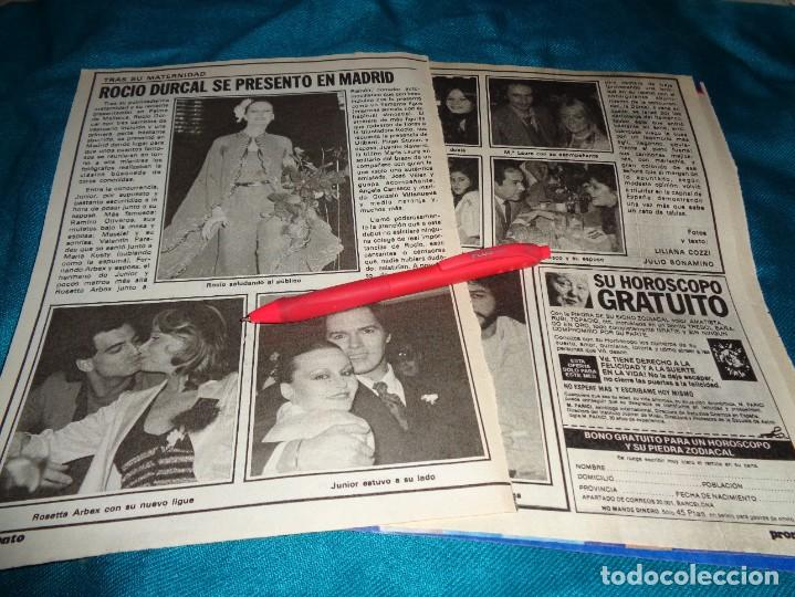 RECORTE : ROCIO DURCAL, SE PRESENTA EN MADRID. PRONTO, NVMBRE 1979(#) (Papel - Revistas y Periódicos Modernos (a partir de 1.940) - Revista Pronto)