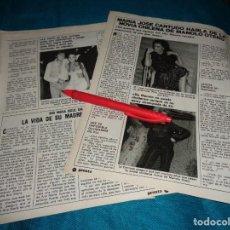 Coleccionismo de Revista Pronto: RECORTE : MARIA JOSE CANTUDO, HABLA DE LA NOVIA DE MANOLO OTERO . PRONTO, JUNIO 1981(#). Lote 269359853