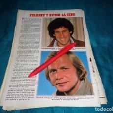 Coleccionismo de Revista Pronto: RECORTE : STARSKY Y HUTCH, AL CINE ( DAVID SOUL) . PRONTO, JUNIO 1981(#). Lote 269359953