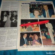 Coleccionismo de Revista Pronto: RECORTE : ROCIO DURCAL, ROCIO JURADO EN ACTUACION DE JUAN GABRIEL. PRONTO, JUNIO 1981(#). Lote 269360653