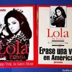 Coleccionismo de Revista Pronto: LOLA FLORES - REVISTA PRONTO - DOS ESPECIALES. Lote 269403783