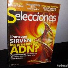 Coleccionismo de Revista Pronto: 27- REVISTA SELECCIONES, 50 SECRETOS DE LOS VETERINARIOS ¿PARA QUE SIRVE LA PRUEBA DE ADN? NOV. 2012. Lote 269507848