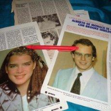 Coleccionismo de Revista Pronto: RECORTE : ALBERTO DE MONACO SE CASA CON BROOKE SHIELDS. PRONTO, DCMBRE 1982 (#). Lote 269629633