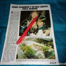 Coleccionismo de Revista Pronto: RECORTE : ROMY SCHNEIDER Y SU HIJO, JUNTOS PARA SIEMPRE. PRONTO, DCMBRE 1982 (#). Lote 269630048