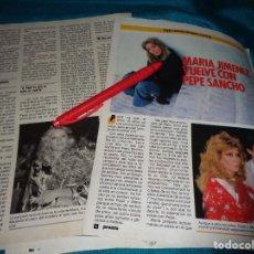 Coleccionismo de Revista Pronto: RECORTE : MARIA JIMENEZ VUELVE CON PEPE SANCHO. PRONTO, ABRIL 1986 (#). Lote 269630253