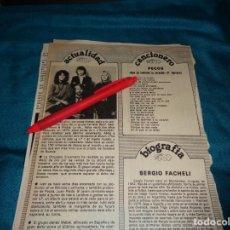 Coleccionismo de Revista Pronto: RECORTE : EL GRUPO ABBA. PRONTO, MARZO 1982 (#). Lote 269630828