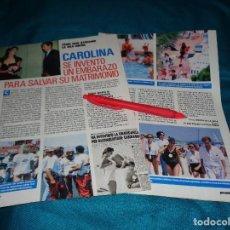 Coleccionismo de Revista Pronto: RECORTE : CAROLINA DE MONACO Y STEFANO. PRONTO, AGTO 1988(#). Lote 269816668