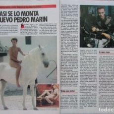 Coleccionismo de Revista Pronto: RECORTE REVISTA PRONTO N.º 697 1985 PEDRO MARÍN. Lote 270545243