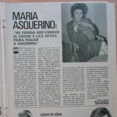 Coleccionismo de Revista Pronto: RECORTE REVISTA PRONTO N.º 888 1989 MARÍA ASQUERINO.. Lote 270545628