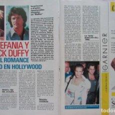 Coleccionismo de Revista Pronto: RECORTE REVISTA PRONTO N.º 888 1989 ESTEFANÍA DE MÓNACO Y PATRICK DUFFY 5 PGS. Lote 270545788