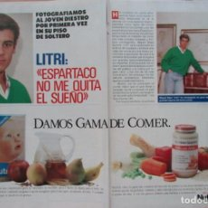 Coleccionismo de Revista Pronto: RECORTE REVISTA PRONTO N.º 888 1989 MIGUEL BÁEZ, EL LITRI 4 PGS. MINERVA. Lote 270545943