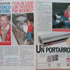 Coleccionismo de Revista Pronto: RECORTE REVISTA PRONTO N.º 888 1989 ESPARTACO SANTONI, METKA TERSELICH 3 PGS. Lote 270546208