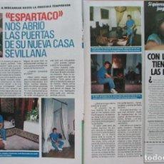 Coleccionismo de Revista Pronto: RECORTE REVISTA PRONTO N.º 860 1988 JUAN ANTONIO RUIZ ESPARTACO. Lote 270546393
