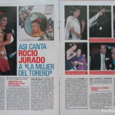 Coleccionismo de Revista Pronto: RECORTE REVISTA PRONTO N.º 860 1988 ROCÍO JURADO 3 PGS. Lote 270546503