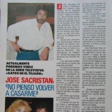 Coleccionismo de Revista Pronto: RECORTE REVISTA PRONTO N.º 860 1988 JOSÉ SACRISTÁN. Lote 270546638