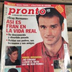 Coleccionismo de Revista Pronto: PRONTO Nº 1520 · 2001· FRAN GH - ANA OBREGON - ANGEL CRISTO - Y MAS. Lote 270982558