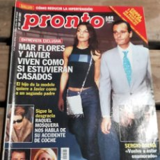 Coleccionismo de Revista Pronto: PRONTO Nº 1505, 10,3, 2001- MAR FLORES - ROCIO CARRASCO - LETICIA SABATER - SERGIO DALMA - Y MAS. Lote 270982953