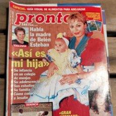 Coleccionismo de Revista Pronto: PRONTO Nº 1512 - 2001- BELEN ESTEVAN - ISABEL PANTOJA - LOS JACKSON - Y MAS. Lote 270983118