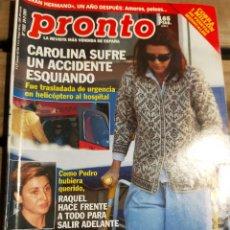 Coleccionismo de Revista Pronto: PRONTO Nº 1503 - CAROLINA LINA MORGAN JAVIER BARDEM Y MAS. Lote 270983968