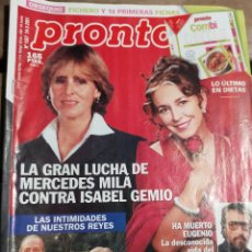 Coleccionismo de Revista Pronto: PRONTO Nº 1507 - ESTOPA - MUERTE DE EUGENIO Y MAS. Lote 270984018