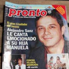Coleccionismo de Revista Pronto: PRONTO Nº 1523 ALEJANDRO SANZ - PAZ PADILLA - JUANJO BALLESTA Y MAS. Lote 270984093