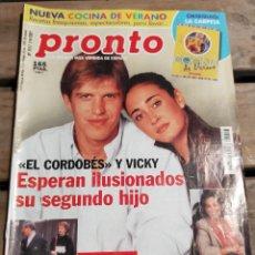 Coleccionismo de Revista Pronto: PRONTO Nº 1517 - EL CORDOBES - MUERTE DE URRUTI - CARMEN ROMERO Y MAS. Lote 270984218