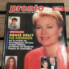 Coleccionismo de Revista Pronto: PRONTO 1124 - 1.993 - GRACE KELLY, PALOMA HURTADO, - ANA OBREGÓN LECQUIO -Y MAS. Lote 272012208