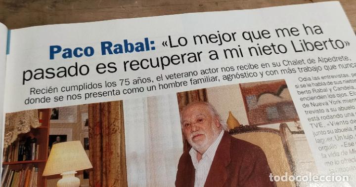 Coleccionismo de Revista Pronto: PRONTO 1516 - 2001 - ADOLFO SUÁREZ- - PACO RABAL - LOLITA Y ROSARIO FLORS - Y MAS - Foto 3 - 272012583