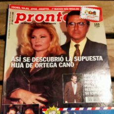 Coleccionismo de Revista Pronto: PRONTO 1488 - 2000 - ORTEGA CANO - MILIKI - RAPHAEL - FARRAH FAWCETT - ANA OBREGON Y MAS. Lote 272012858