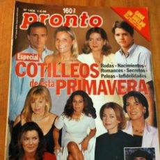 Coleccionismo de Revista Pronto: PRONTO 1408- 1999 - MAR FLORES, ISABEL PANTOJA, BARONESA THYSSEN, JOSÉ LUIS MORENO Y MAS. Lote 272504088