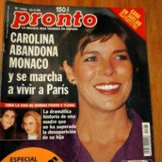 Coleccionismo de Revista Pronto: PRONTO 1405 AÑO 1999 ROMINA POWER E YLENIA, LYDIA EUROVISIÓN, CONCHA VELASCO Y MAS. Lote 272504303