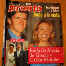 Coleccionismo de Revista Pronto: PRONTO. Nº 1419 - 1.999 - ANA OBREGON - RICKY MARTIN - MANOLO ESCOBAR Y MAS. Lote 272504913