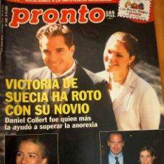 Coleccionismo de Revista Pronto: PRONTO Nº 1492 - VICTORIA DE SUECIA - BERTIN OSBORNE - BO DEREK URSULA ANDRESS Y MAS. Lote 272711913