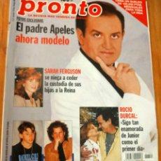 Coleccionismo de Revista Pronto: PRONTO 1304 (1.997) CARMEN MAURA - ROCIO DURCAL - PADRE APELES Y MAS. Lote 274288183